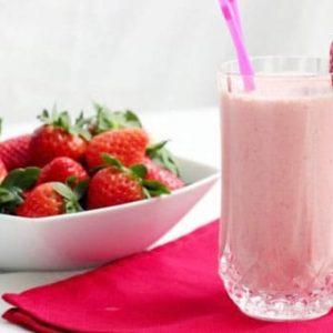 kolay çilekli milkshake tarifi