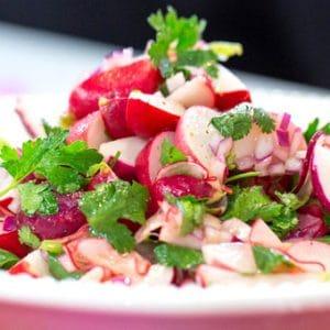 turp salatası yapımı